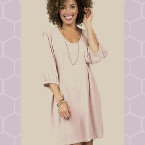 Uncle Frank Dress with Gathered Sleeves and Pocket